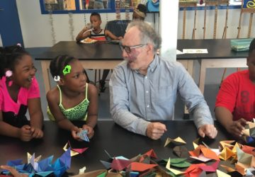 Mr. Stewart is a invaluable art volunteer!